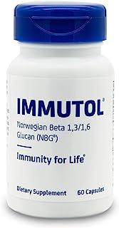 IMMUTOL (750毫克挪威 Beta 1,3/1,6 葡聚糖)每日优化*系统支持,60 粒胶囊