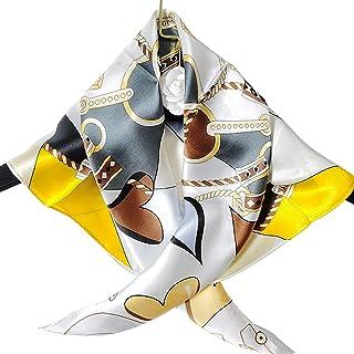 """Abangdun * 真丝围巾女式轻质中号方形围巾数字印刷 70x70 厘米/27""""x27"""""""
