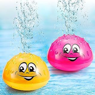 Honoson 2 件套沐浴玩具喷水喷水玩具 LED 发光浴缸淋浴池适用于婴儿幼儿幼儿儿童水电子喷雾器