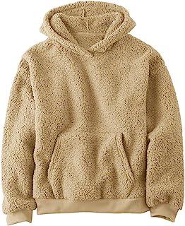 Bbalizko 男婴女孩毛绒羊羔绒连帽衫套头衫运动衫儿童运动上衣带口袋 秋冬户外服装