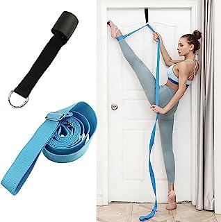 瑜伽腰带和腿部拉伸器,家庭芭蕾舞舞蹈多功能腰带,单线马训练弹力带,D 形环可调节弹力带,日常拉伸锻炼和舞蹈设备。