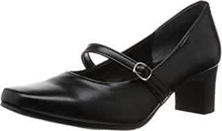 [一段舒适] 日本制造 5.5cm高跟浅口鞋 黑色 女士 绑带 IM39311