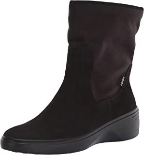 ECCO 爱步 女士Soft 7经典纺织面料坡跟踝靴