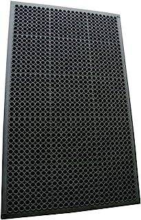 Rubber-Cal 03_122_WBK 1/2 英寸 Dura Chef 防滑橡胶厨房垫,1.27 cm x 91.44 cm x 152.4 cm,黑色