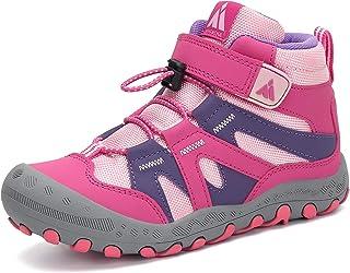 Mishansha 户外及踝登山靴 男孩女孩徒步鞋 带钩环