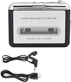 Socobeta 卡式播放器便携式立体声盒式播放器胶带到 MP3 音频转换器适配器,带 USB 线