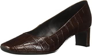 Geox 女士 Vivyanne 中帮 1 鳄鱼压花高跟鞋,5.08cm 鞋跟