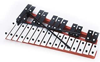专业红色塑料女高音钟琴木琴,刻有27个金属钥匙和笔记 - 包括 2 个塑料搅拌器