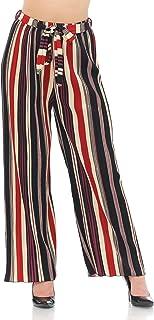 Auliné Collection 女士手风琴褶皱高腰阔腿阔腿阔腿裤