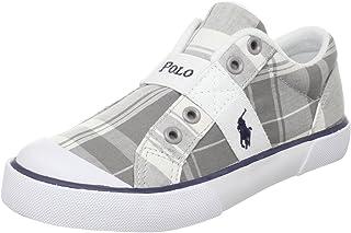 Polo by Ralph Lauren Kids' Gardener Fashion Shoe,Grey/White,5 M US Big Kid