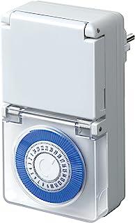 Brennenstuhl MMZ 44 定时器,机械定时器插座(日计时器,IP44 防护,儿童保护和*保护盖)颜色:白色