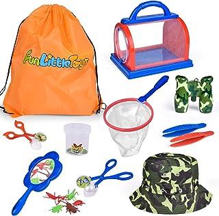 16 件儿童捕虫器套装,户外探险家套装,自然探险玩具套装,适合男孩和女孩