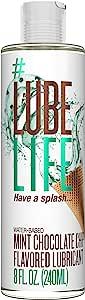 #LubeLife 水基薄荷巧克力味润滑剂,8 盎司(约 226.8 克)性润滑剂,男女和夫妻适用(薄荷巧克力色)