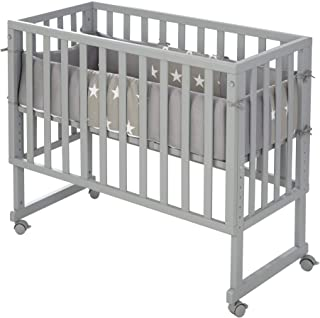 roba 围栏 3 合 1 *侧床 灰色,适用于所有父母 高度,含通风床垫,通风床垫和屏障8961TP9M190,白色