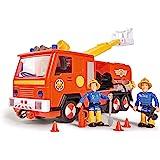 Simba 109251036 木星式消防车2.0和消防员 Sam,带有Sam和Elvis人偶,带音效和声效,带可伸缩梯…