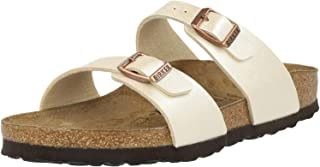 BIRKENSTOCK 勃肯 女士 Sydney Birko-Flor Graceful Pearl 白色凉鞋