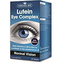 Natures Aid Lutein Eye Complex with Bilberry - Pack of 30 Ta…