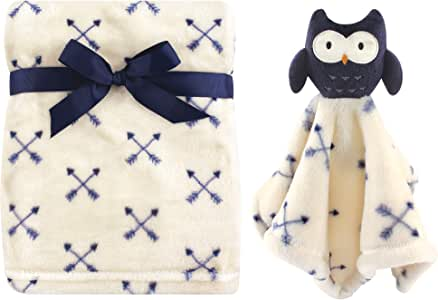 Hudson Baby毛绒毯和动物*毯套装 Boy Owl 均码