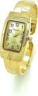 女式优雅矩形金属手镯袖口时尚手表单独出售