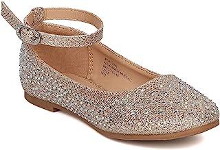 Little Angel 女孩闪亮芭蕾平底鞋 GH29 玫瑰金 幼儿 9