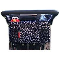 HC 手推车收纳袋带瓶和杯架隔热袋通用型婴儿车存储配件和便携式婴儿车包 灰色黑色