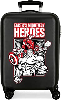 Marvel 漫威 Mightiest 英雄行李箱,38x55x20 厘米 黑色 38x55x20 cms