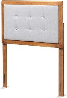 Baxton Studio 181-11165-AMZ 床头板,浅灰色/胡桃木色