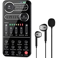 现场声卡,ALPOWL 语音转换器,带迷你麦克风,耳机,手持麦克风语音转换器声音效果机,适用于 PS4/Xbox/Swi…