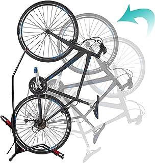 Begona 自行车支架垂直自行车架,直立自行车地板支架,自由站立可调节自行车车库架,适用于室内山地/公路自行车存储,节省空间,无损坏墙壁,适合大多数 20-29 英寸的自行车