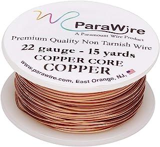 ParaWire 铜工艺线 22 号 15 码(约 22 米) 带透明保护涂层