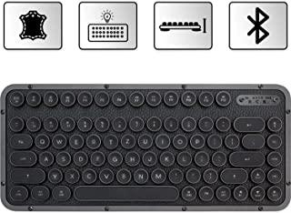 Azio Compact 复古键盘青铜色机械打字机键盘,包括手球垫,带蓝牙的移动蒸汽朋克键盘,无线,发光按钮,复古外观