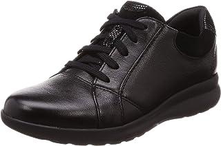 Clarks Un Adorn 女式一脚蹬鞋 黑色皮革/麂皮组合 8 M US Un Adorn Lace