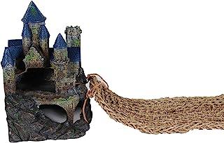 Penn-Plax Reptology Castle Hide-Away Combo: 包括躲藏和蜥蜴躺椅桥和各种各样的蜥蜴