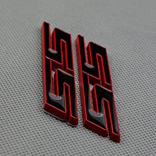 2X SS 挡泥板徽章铭牌字母兼容 SS 红色饰边(红色饰边)