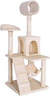 抓板 , 攀岩树适用于猫 , 剑麻 , 高133厘米 , 颜色可选 米色