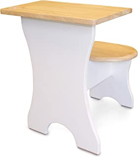 """SumSum 儿童办公桌 - 儿童高级人体工程学桌面 - 实心 Havea 硬木斯堪的纳维亚学生,学龄前和幼儿桌,带铅笔架,杯架,智能手机平板电脑支架(2-6 岁)"""