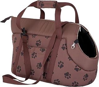 HOBBYDOG TORJBL5 TRANSPORT BAG 狗和猫狗袋运输包 便携包 手提包 运输箱(3 种不同尺寸) 棕色 R1 (20 x 36 cm)
