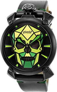 [GAGAMILANO] 手表 MANUALE 48MM 多色表盘 世界限量500只 5062.03S 男士 平行进口商品 黑色