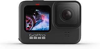 GoPro HERO9 黑色防水运动相机,带前液晶显示屏和触控后屏幕,网络摄像头,5K超高清视频,20MP 照片,1080p直播,