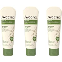 Aveeno 艾惟诺 每日保湿舒缓燕麦润肤身体乳,滋养干性皮肤,无香料,71g(3件装)