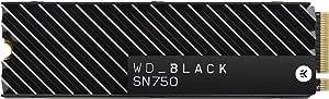 Western Digital Black SN750 NVMe 内置游戏固态硬盘 带散热片 Gen3 PCIe M.2 2280 3D NAND-WDS200T3XHC 2TB