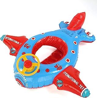 Baby Infant 泳池漂浮火箭飞机,带纯银轮和Honk充气游泳圈泳池玩具,适合男婴幼儿