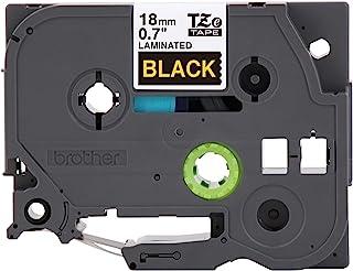 Brother 兄弟 P-Touch TZE-344 胶带 0.7 毫米 标准层压 P-Touch 胶带 金色黑色 层压 室内外用 防水 8 米 单包