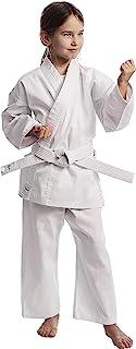 Ippon Gear Club Karate GI 套装初学者空手道服儿童套装包括腰带[腰带I 220gr/m²(8 盎司)面料*] 白色
