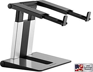 Diamond 人体工程学紧凑便携式桌面高度可调节电脑笔记本电脑支架和立管兼容 MacBook、Dell XPS 和所有10 – 15.6 英寸笔记本电脑,*高承重 11 磅 7 种高度设置。