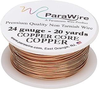 ParaWire 铜工艺线 24 号 20 码(约 24.2 米)带透明保护涂层