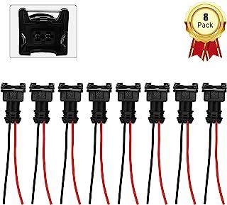 (8 件)燃油喷射器连接器 EV1 OBD1 插头线束猪尾线织机夹切口适合 RC 、博世、本田、福特、丰田