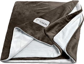 """PetFusion [新款高级宠物毯。 双面灰色微绒毛。 [* 柔软涤纶] 巧克力色 Small (31 x 27"""")"""