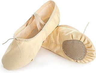 女童芭蕾舞鞋 帆布舞鞋 芭蕾舞鞋 拖鞋 瑜伽鞋 分离式鞋底 平底鞋