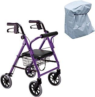 竹虎 步行车 快乐迷你 紫色金属 多功能雨罩套装